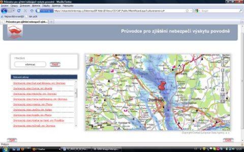 Povodňové mapy pro veřejnost zdarma!