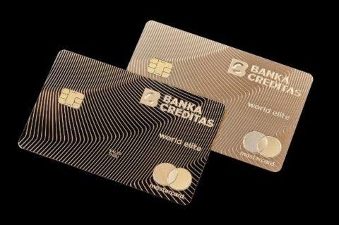 Banka CREDITAS vydává platební kartu ze zlata. Bude jich jen 100
