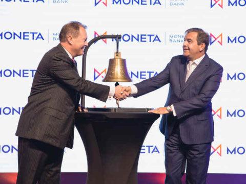 MONETA Money Bank vstoupila na Burzu cenných papírů Praha