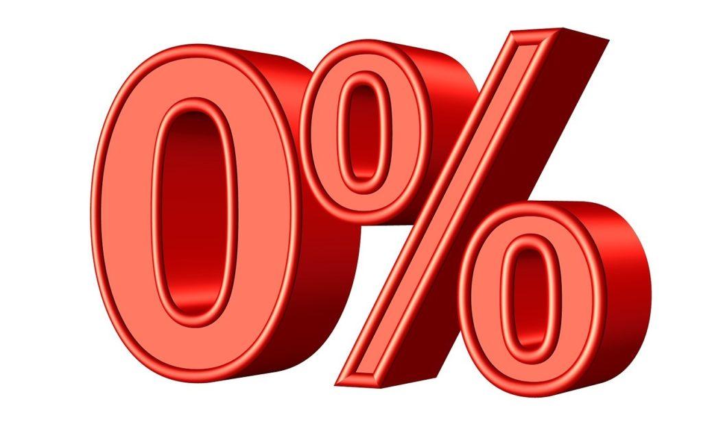 Nulový úrok - hypotéka zadarmo - úrokové sazby