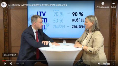 Tomáš Nidetzký vysvětluje změny uhypotečních ukazatelů