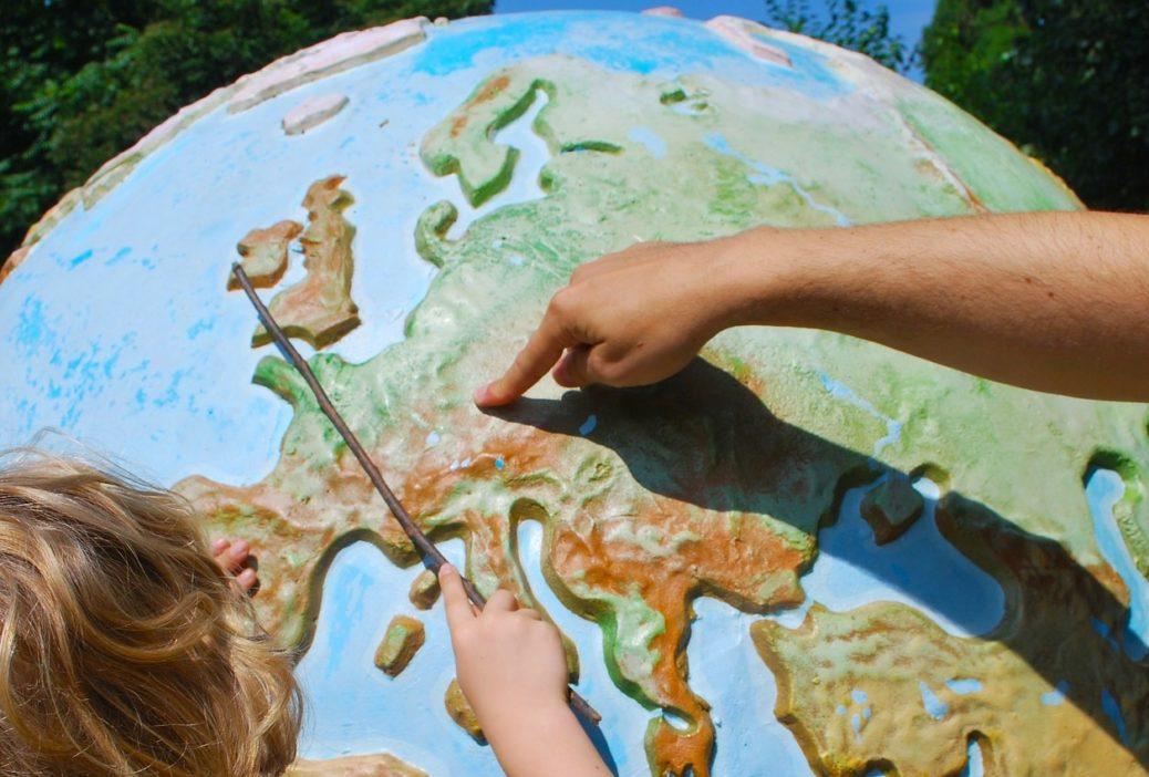 Střední Evropa - globus