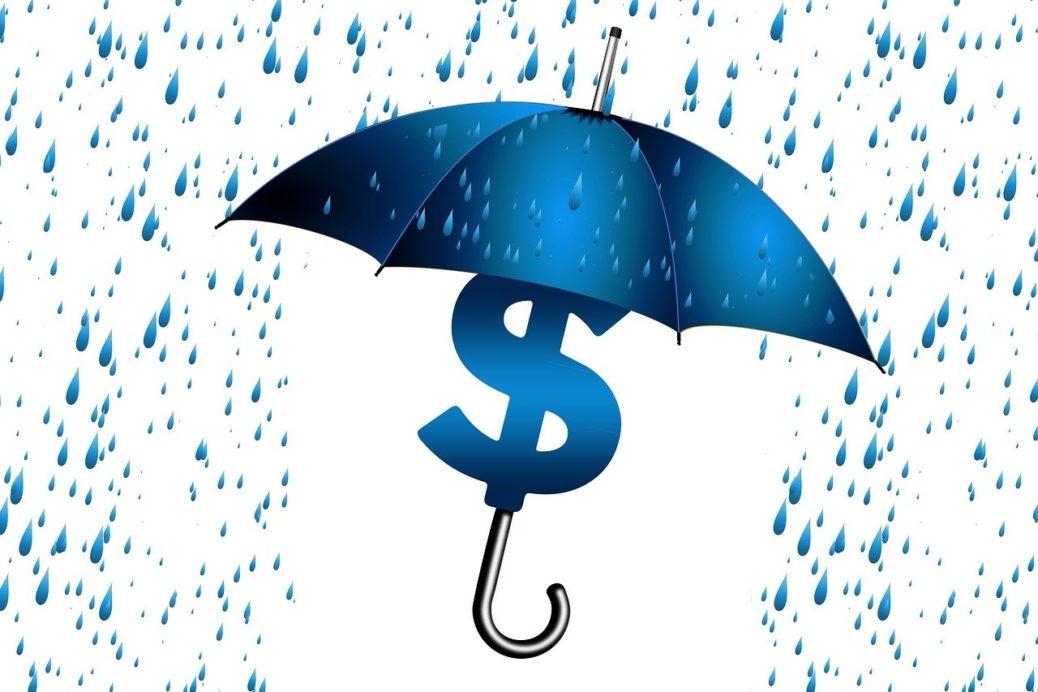deštník peníze