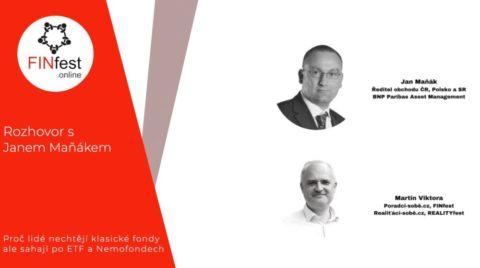 Jan Maňák: Proč investoři dávají před klasickými fondy přednost ETF anemofondům?